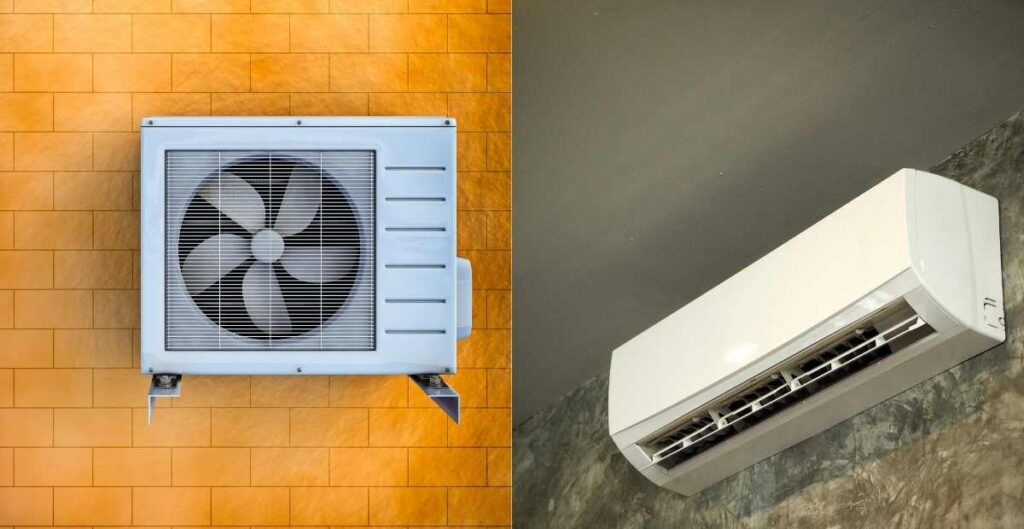 air conditioner outdoor and indoor unit